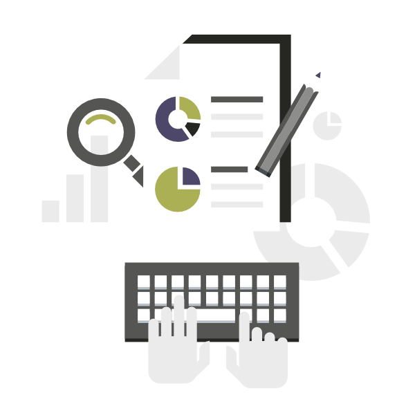 Data clipart monthly report. Reporting marketing supply co