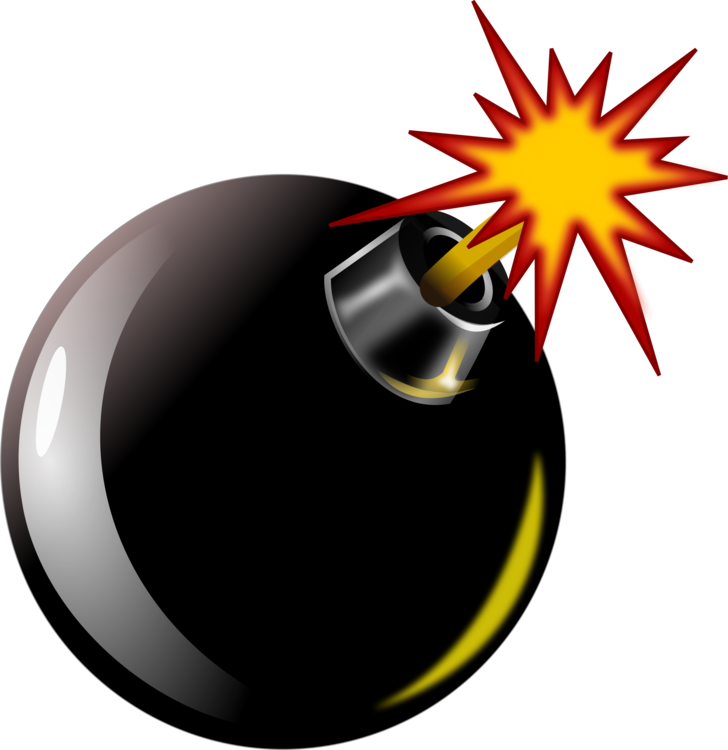 Data clipart scenario. Ticking time bomb explosion