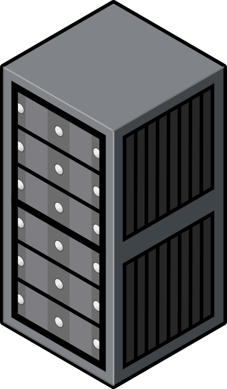 Data clipart server. Isometric cabinet medium image