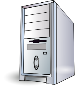 Pc clipart. Server computer panda free