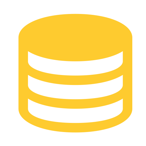 Database vector. Base data hover icon