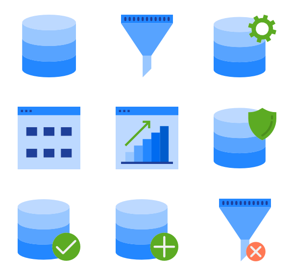 Database vector. Icons free data