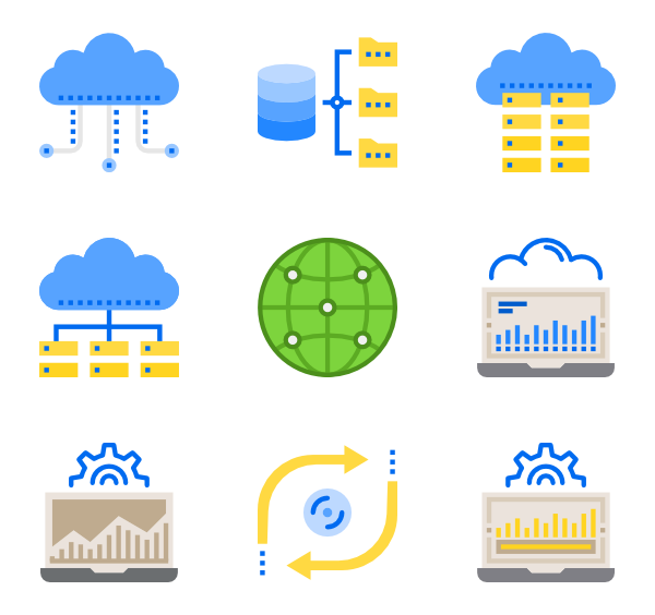 Database vector. Icons free network and