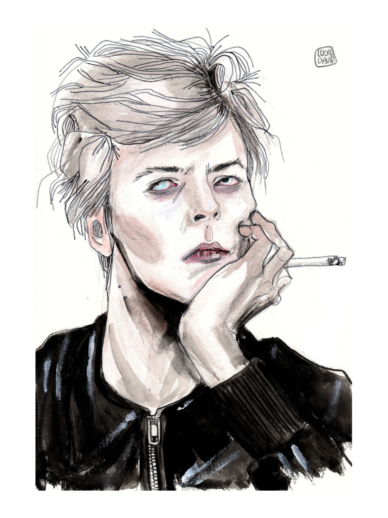 David drawing. Bowie paintings search result