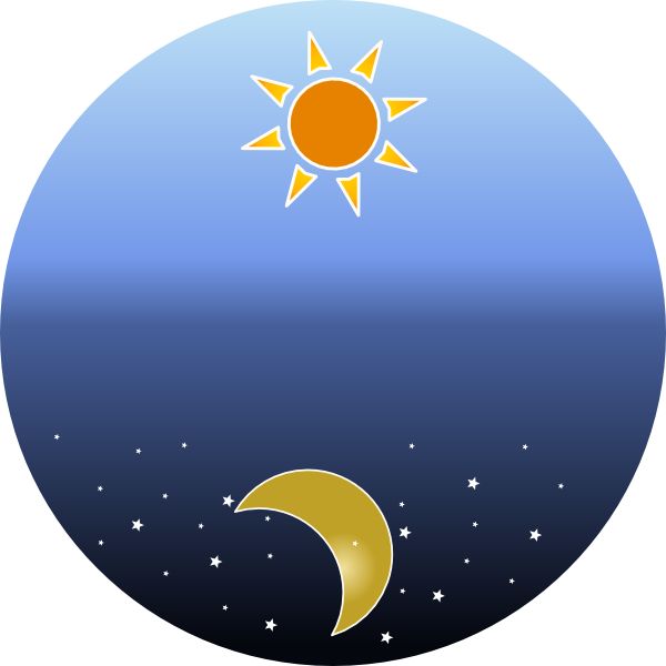 Day clipart. Night and