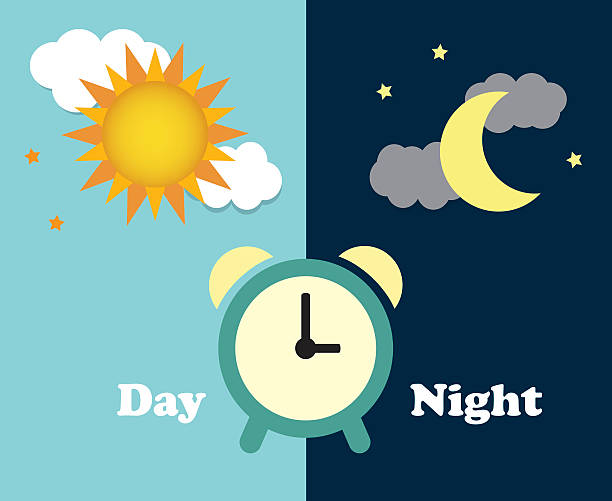 Day clipart. Night and station animations
