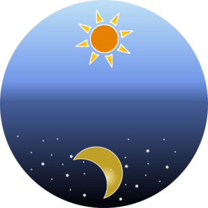 Day clipart. And night clip art