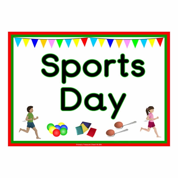 Day clipart sports. Poster primary treasure chest