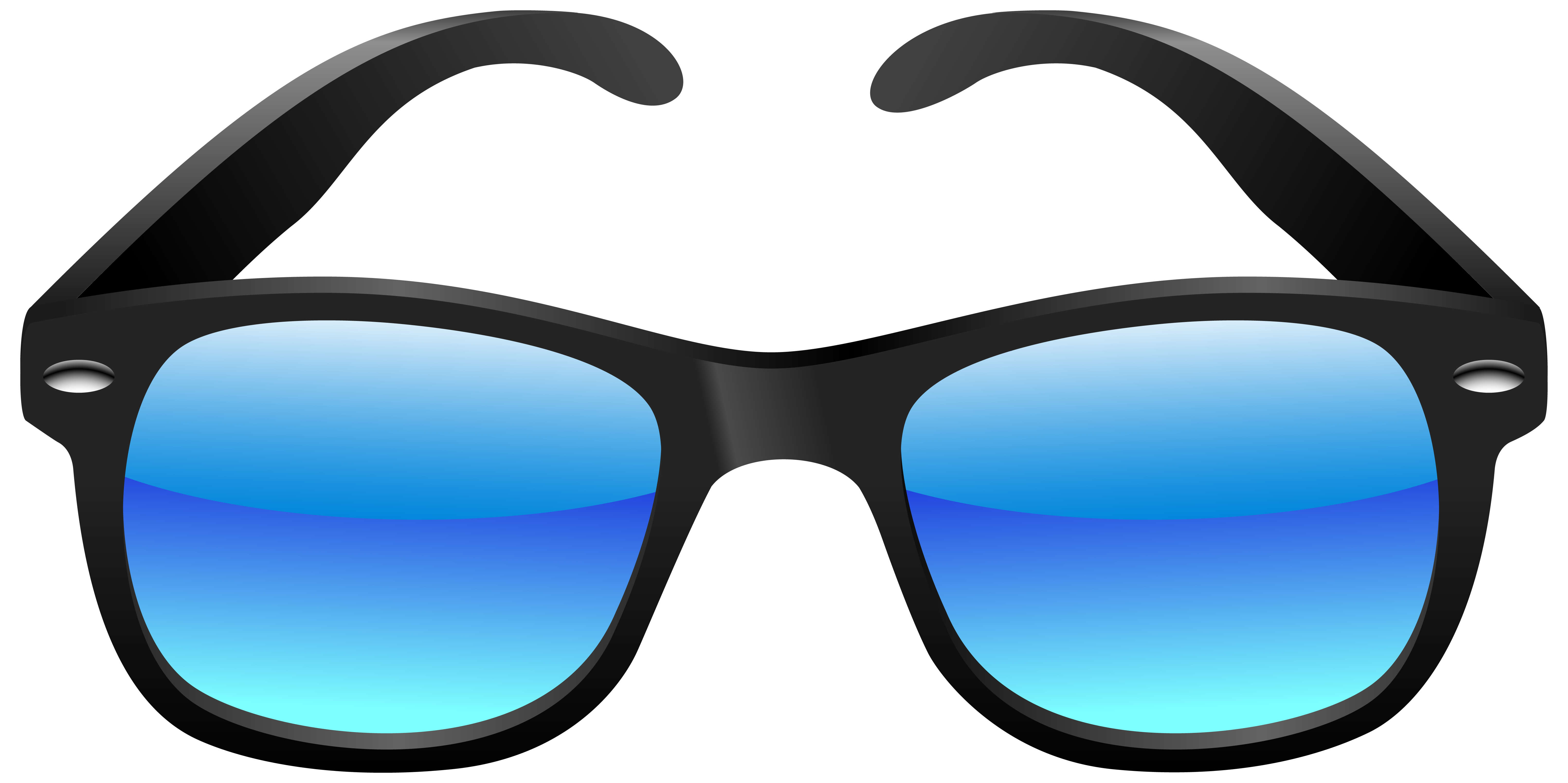 Day clipart sunglass. Black and blue sunglasses