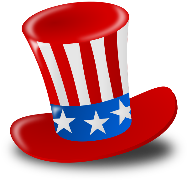 Day clipart vector. Independence hat clip art
