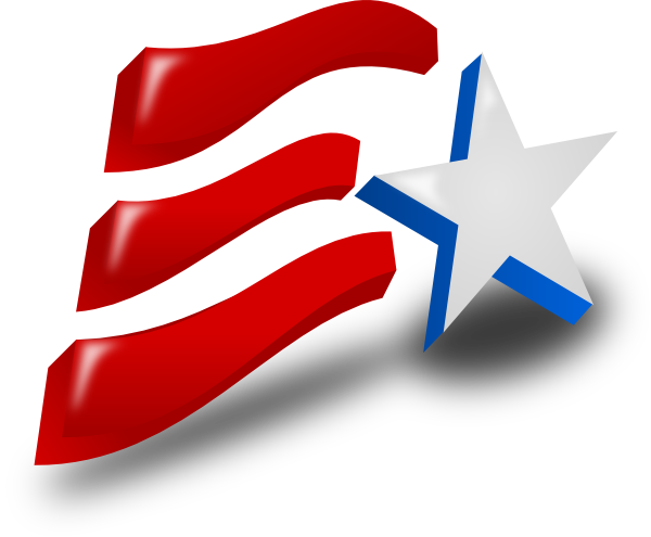 Day clipart vector. Independence flag clip art