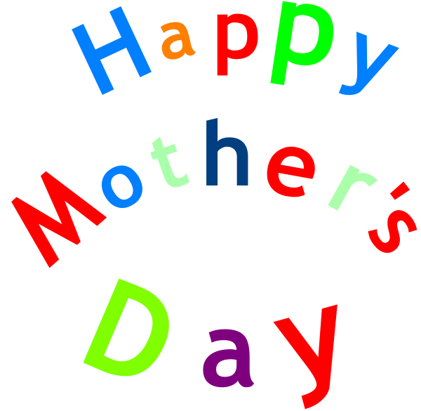 Day clipart vector. Happy mother s sign