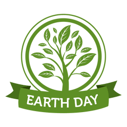 Day clipart vector. Earth tree ecologic poster