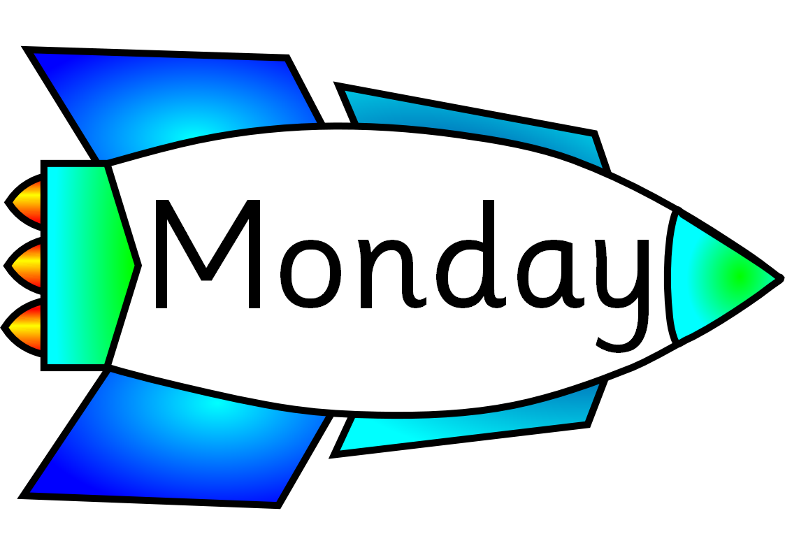 Day clipart weekly. Days of the week