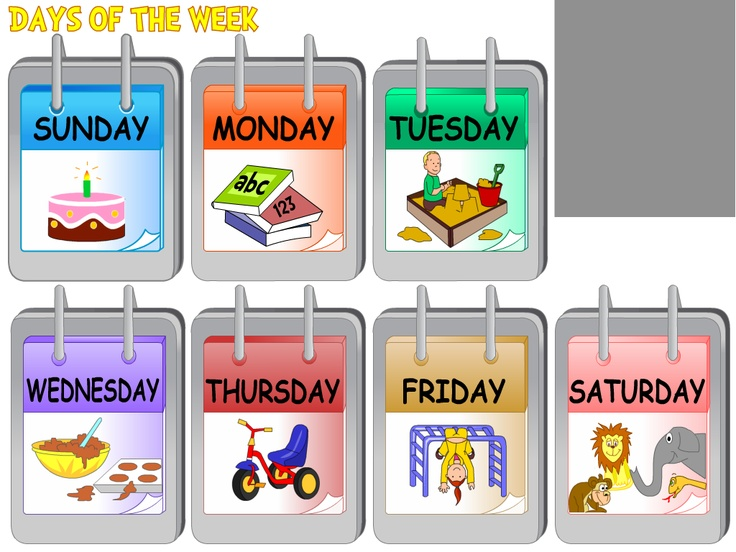 Day clipart weekly. Best days of