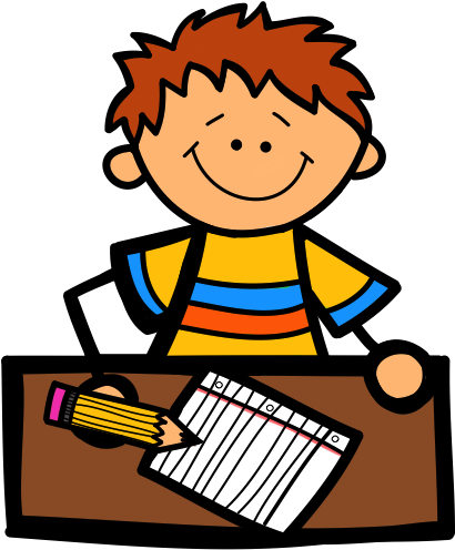 Daycare clipart. Download write kid writing
