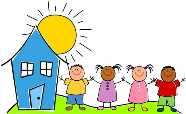 Daycare clipart. Arrival to day care