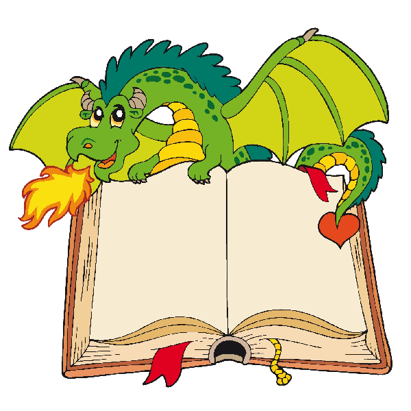 Daycare clipart background. Funny cartoon dragon clip