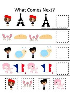 Daycare clipart homeschool. France themed memory matching