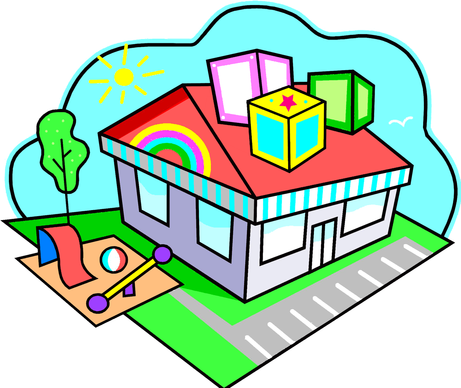 Daycare clipart preschool. Download hd house clip
