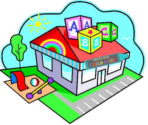 Daycare clipart write. Day care center