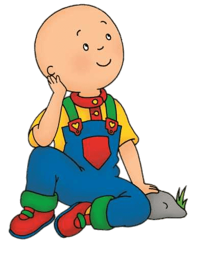Daydreaming clipart. Caillou transparent png stickpng