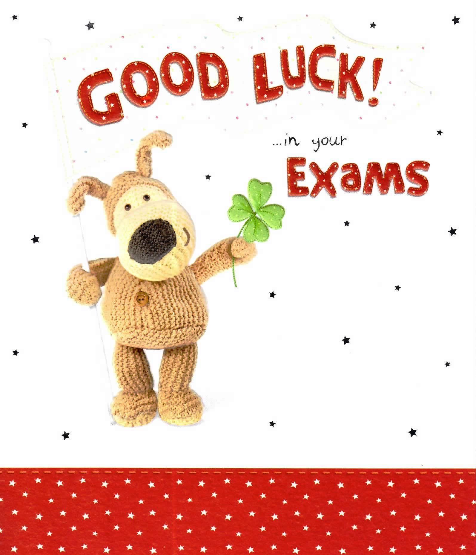 Daydreaming clipart board exam. Boofle good luck in
