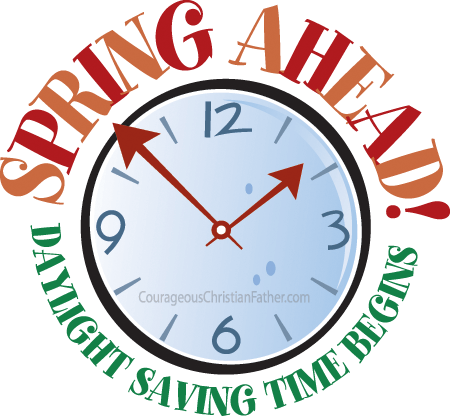 Daylight saving time png. Spring ahead begins holiday