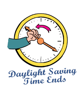 Daylight savings clipart short time. Saving ends set your