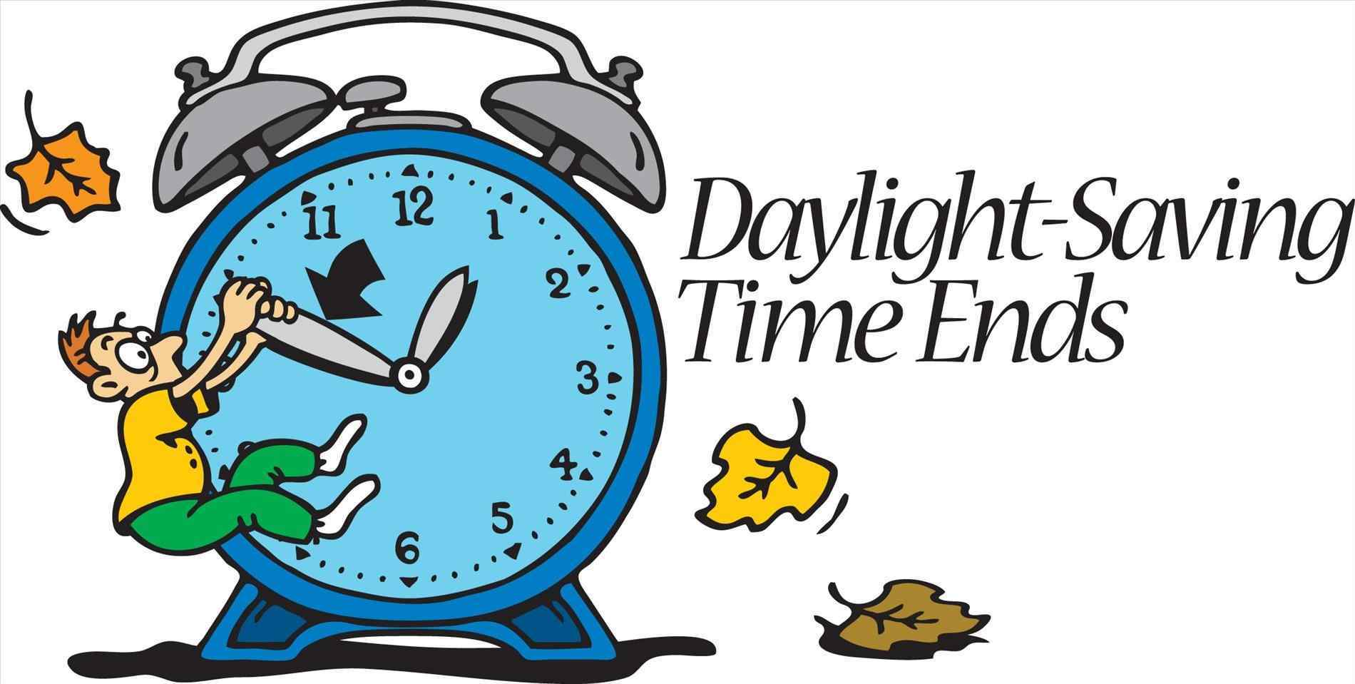 Daylight savings clipart begins. Time change fall back