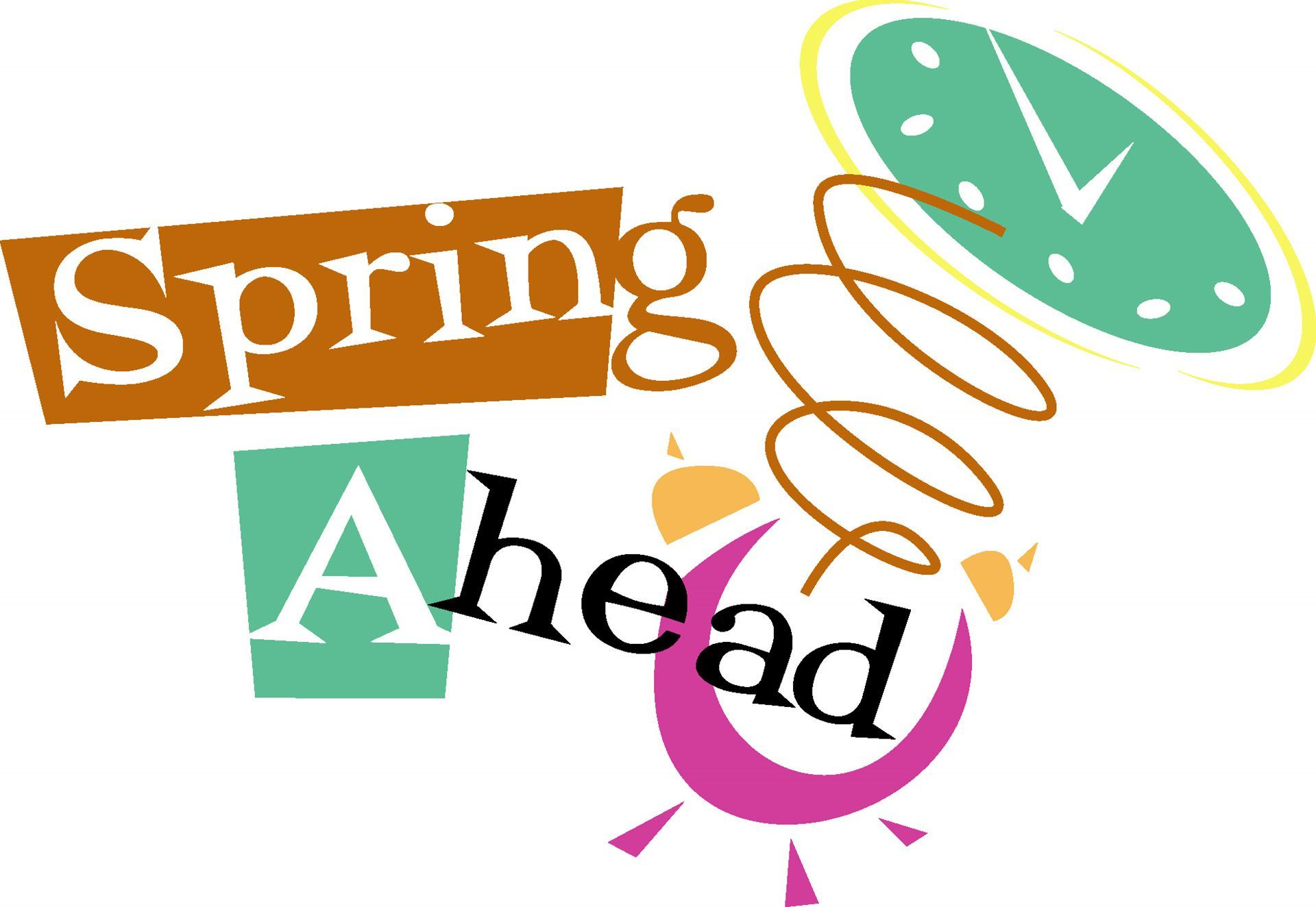 Daylight savings clipart spring forward. Antelope club ahead set