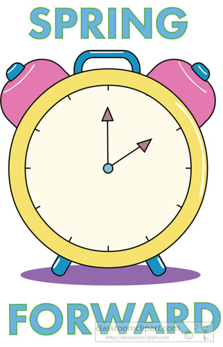 Daylight savings clipart spring forward. Seasonal time change clock