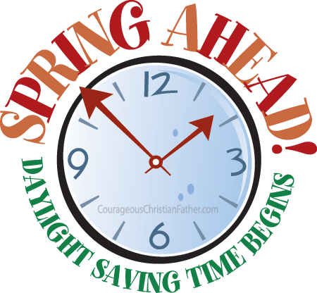 Daylight savings time png. Spring ahead saving begins