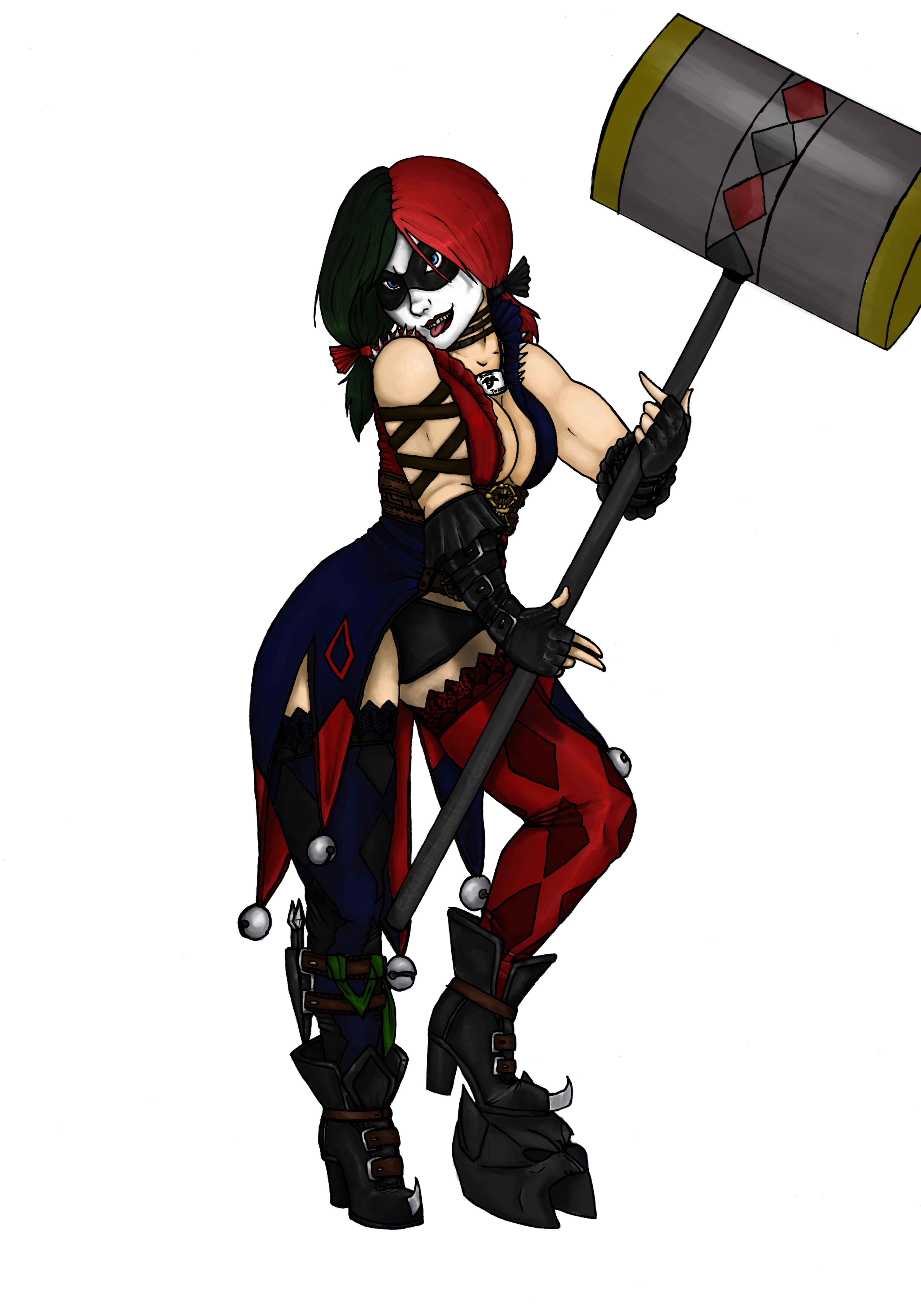 Dc drawing harley quinn. Injustice by exahall on