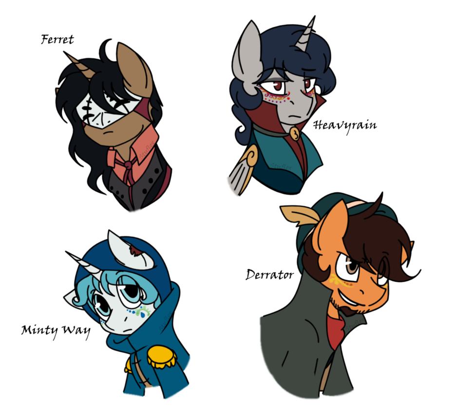 Dc drawing male. Pony oc redesigns headshots