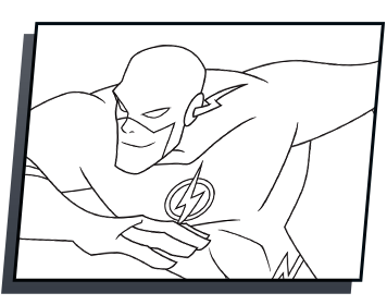 Dc drawing the flash. Coloring page