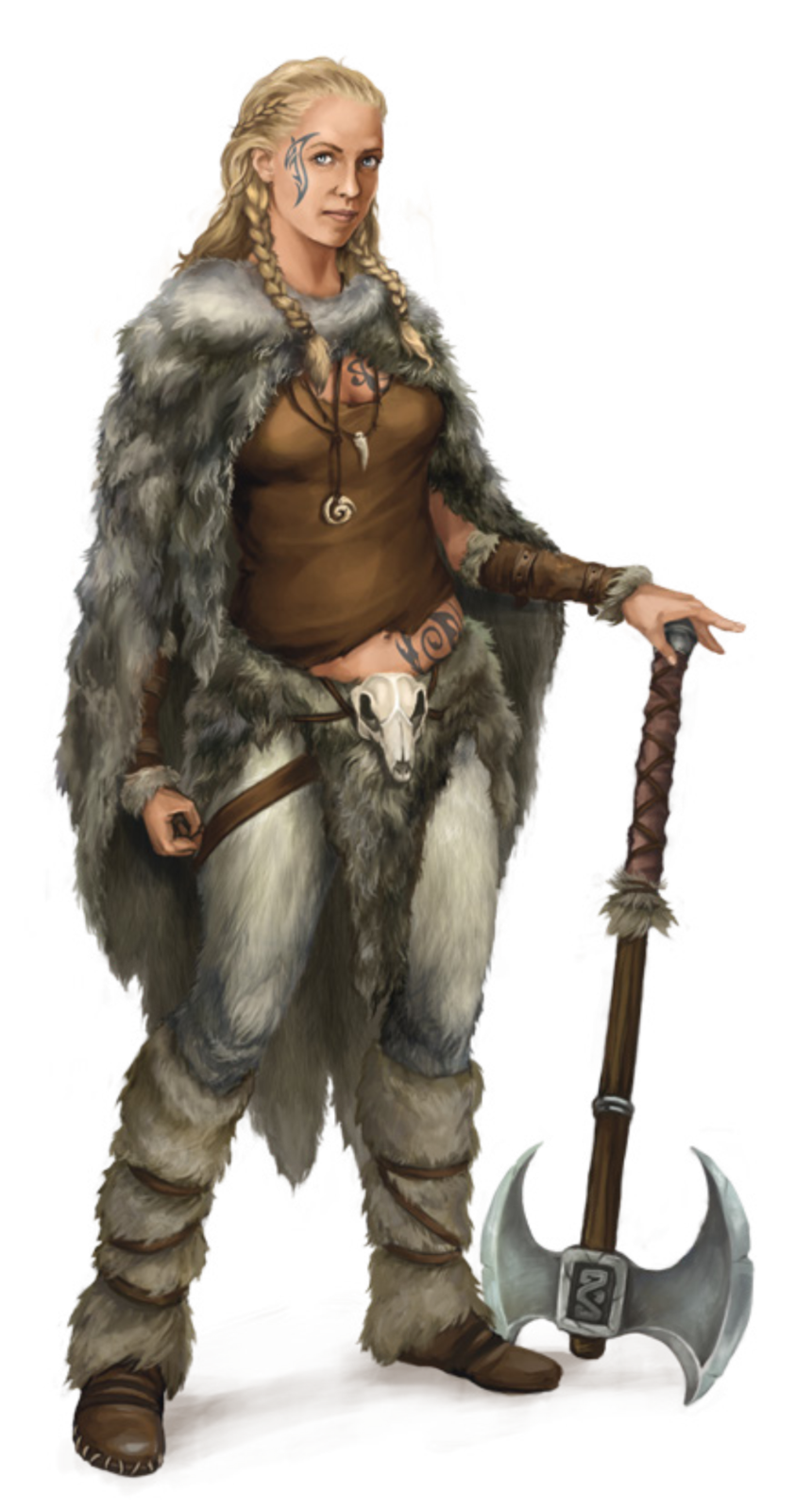 D&d character png. Tattooed nord babe d
