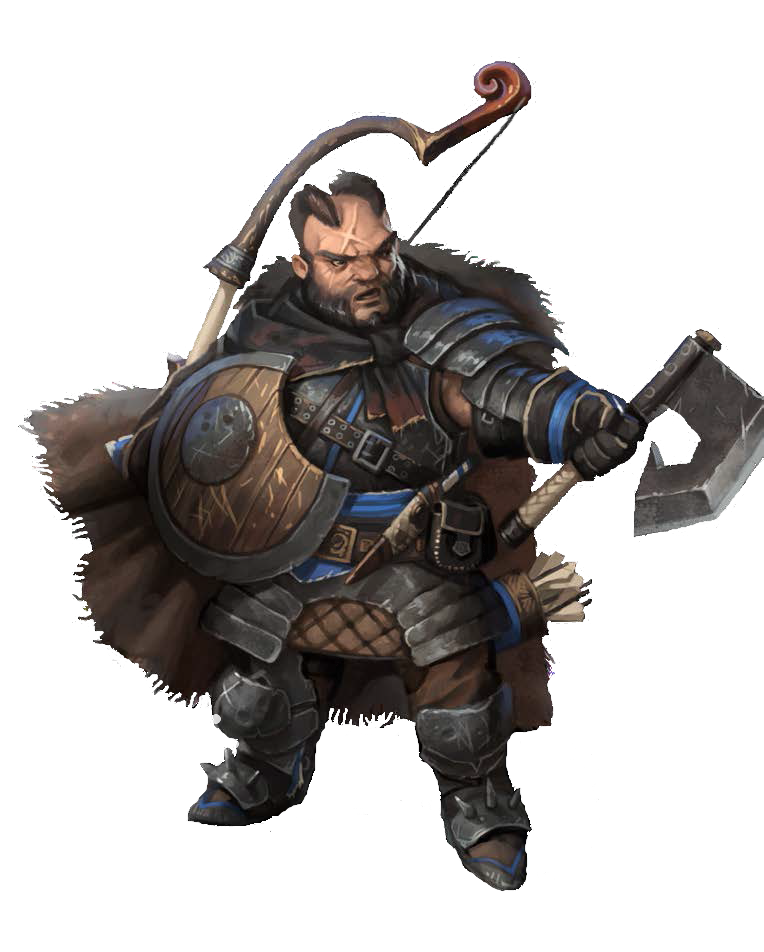 D&d fighter png. Dwarf pathfinder pfrpg dnd