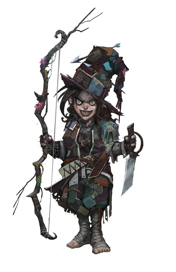 necromancer drawing halfling