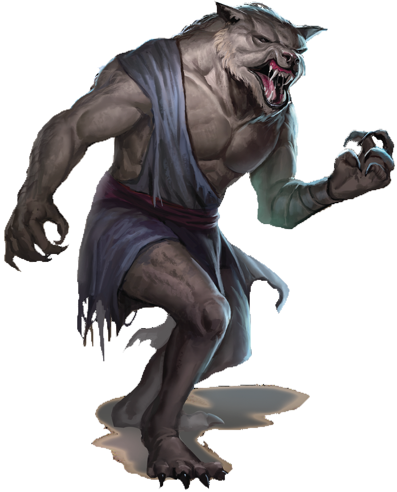 transparent werewolf d&d