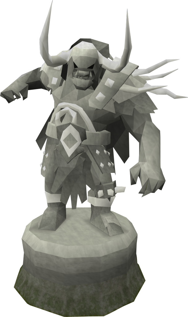Diety statue png. Image fine bandos god