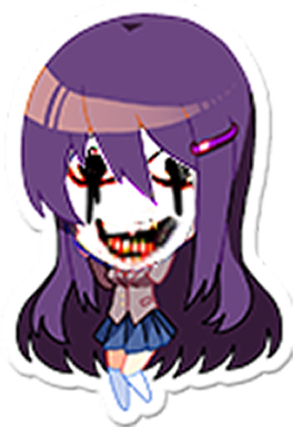Fang drawing creepy. Editing yuri s scary
