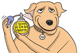 Dead clipart bad smell thing. Why do dogs rub