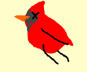 Dead clipart cardinal. This is madness a