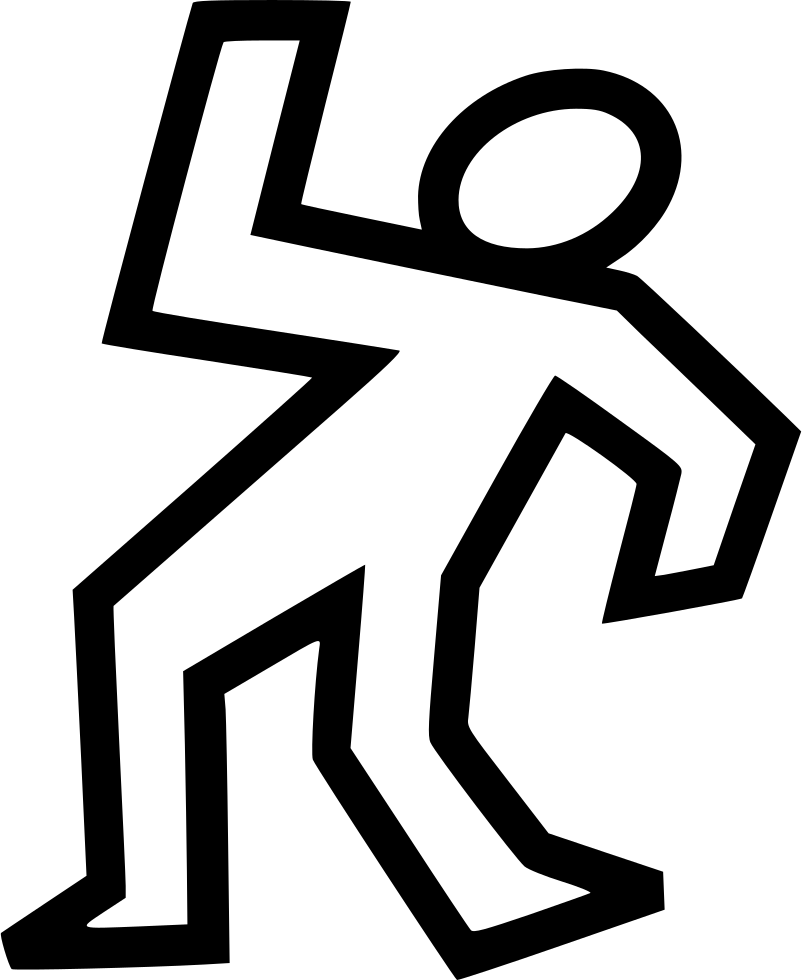 Dead clipart dead body outline. Svg png icon free