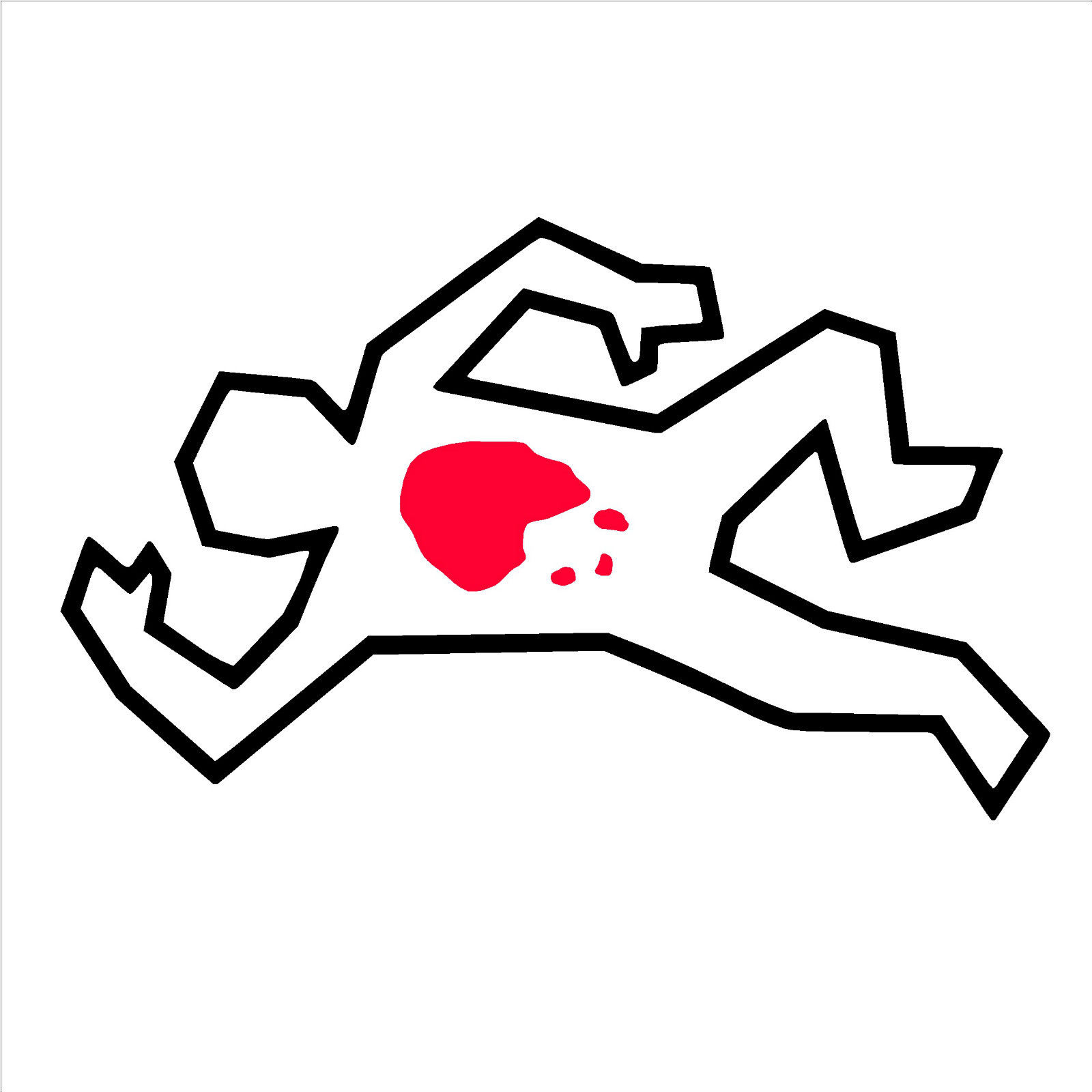 Dead clipart dead body outline. Cartoon old chef