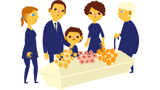 Son clipart family 6. Death of a member