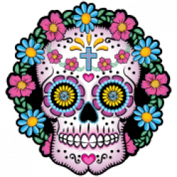 Dead clipart skull drawing. Sugar girl pictures and