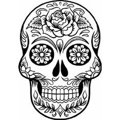 Dead clipart skull drawing. Day of the calavera
