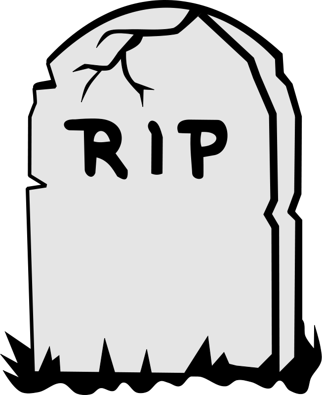 death clipart obituary